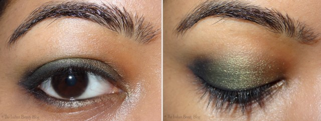Gold Makeup For Green Eyes 30 Days Eye Makeup Challenge Look 6 The Indian Beauty Blog