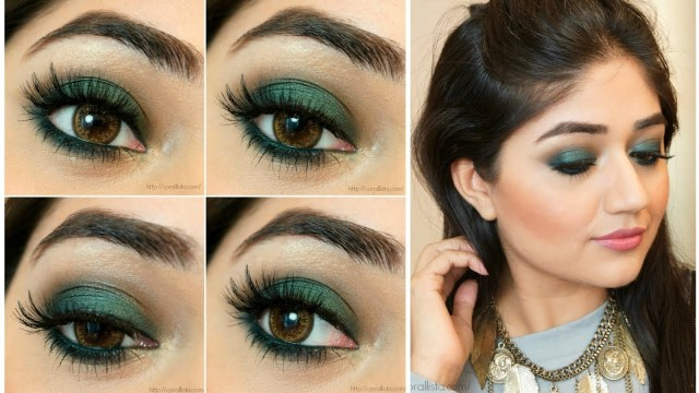 Gold Makeup For Green Eyes Green Smoky Eye Makeup Tutorial Corallista Youtube
