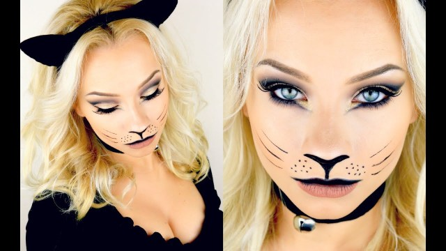 Halloween Cat Eye Makeup Last Minute Halloween Kitty Cat Makeup Tutorial 2015 Youtube