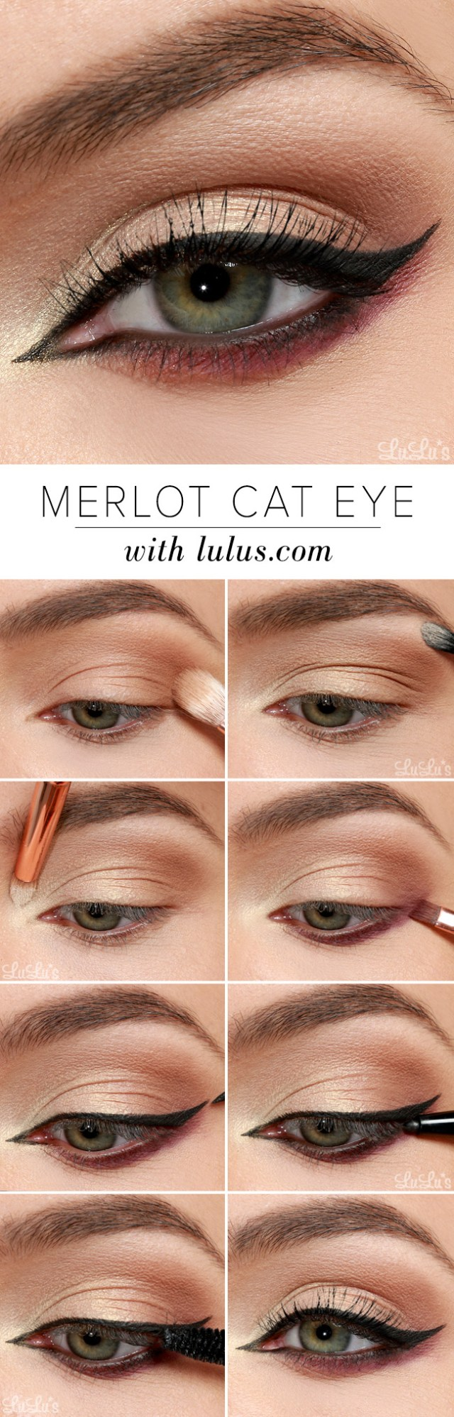 Halloween Cat Eye Makeup Lulus How To Merlot Cat Eye Makeup Tutorial Lulus Fashion Blog