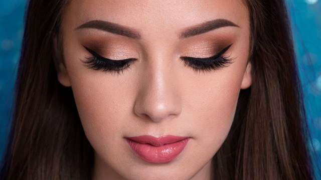 Homecoming Makeup For Blue Eyes Prom Makeup Tutorial Easy Glam Youtube