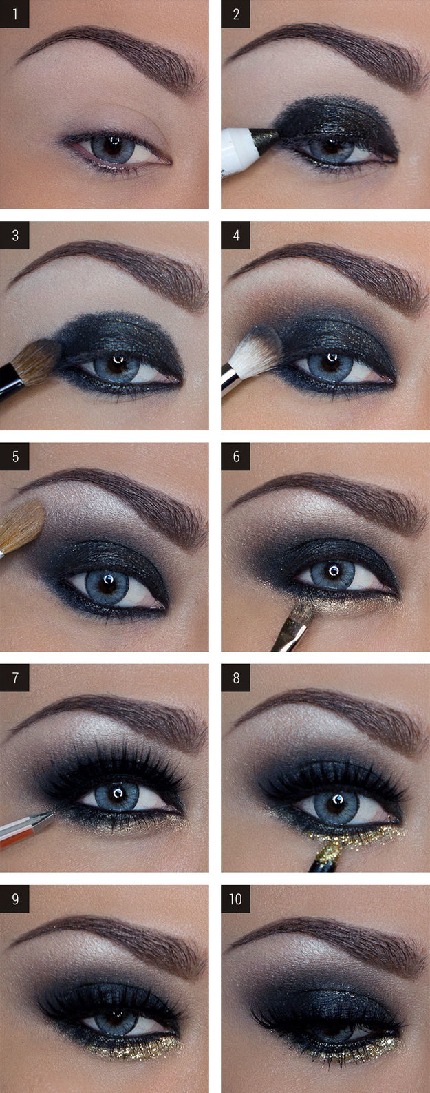 How To Do Makeup For Blue Eyes 12 Easy Step Step Makeup Tutorials For Blue Eyes Her Style Code