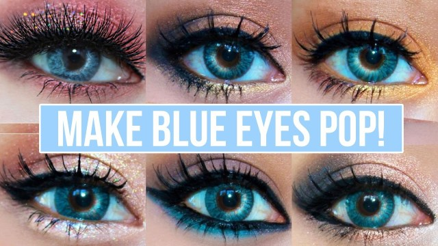 How To Do Makeup For Blue Eyes 5 Makeup Looks That Make Blue Eyes Pop Blue Eyes Makeup Tutorial