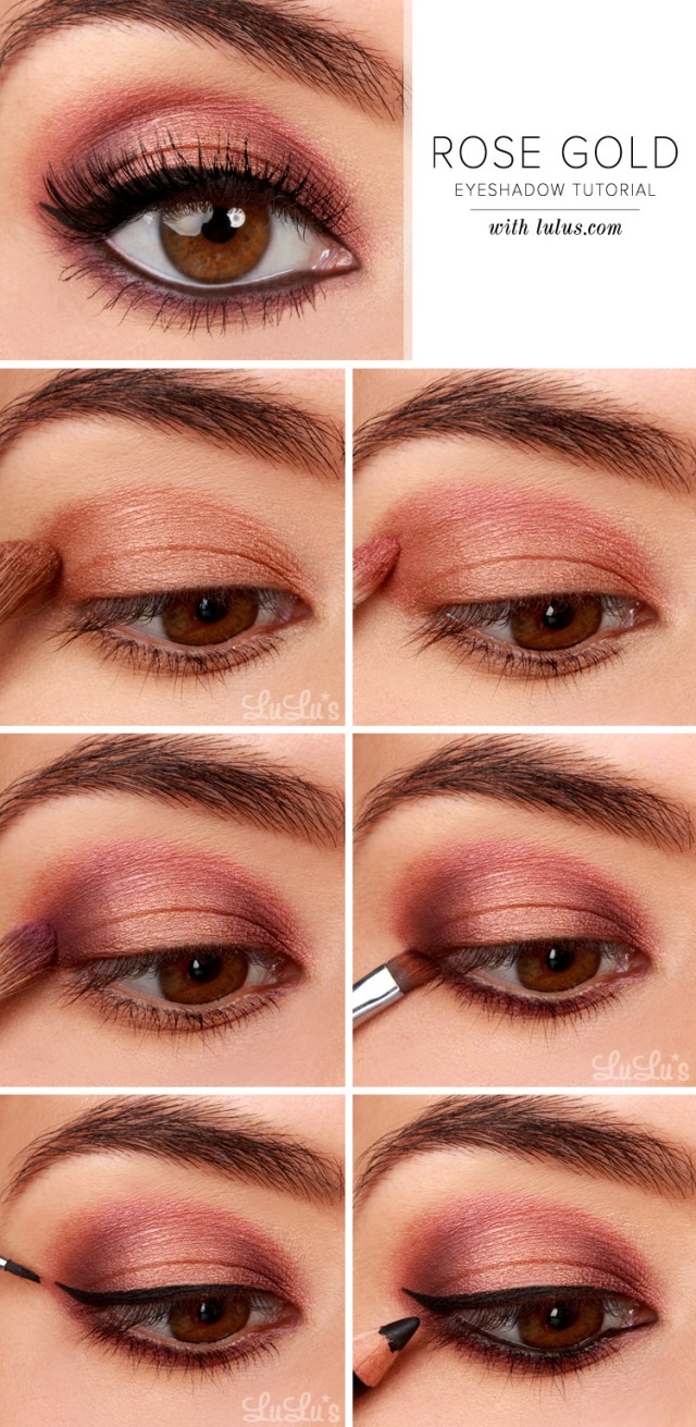 How To Do Perfect Eye Makeup Lulus How To Rose Gold Eyeshadow Tutorial Lulus Fashion Blog