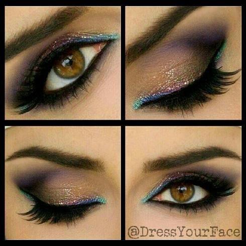Makeup Colors For Dark Brown Eyes Prom Eye Makeup Makeup Tutorials