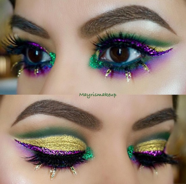 Makeup Designs For Eyes Here Are 13 Mardi Gras Inspired Makeup Looks That Are Guaranteed To
