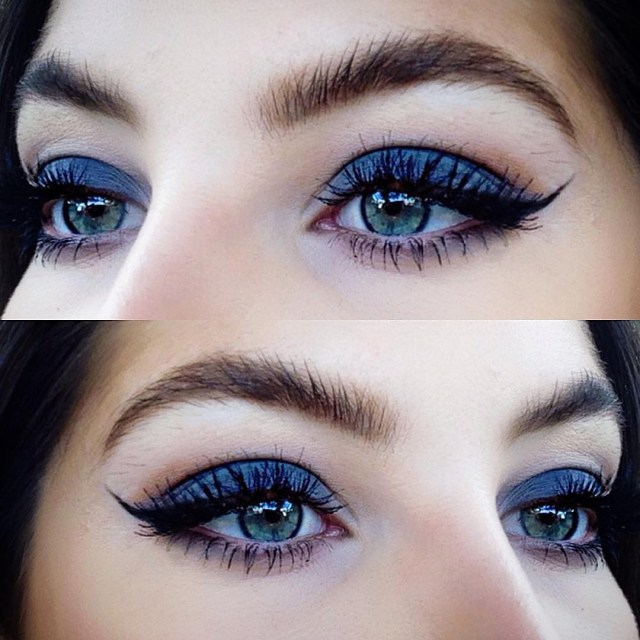 Makeup Designs For Eyes How To Rock Blue Makeup Looks 20 Blue Makeup Ideas Tutorials