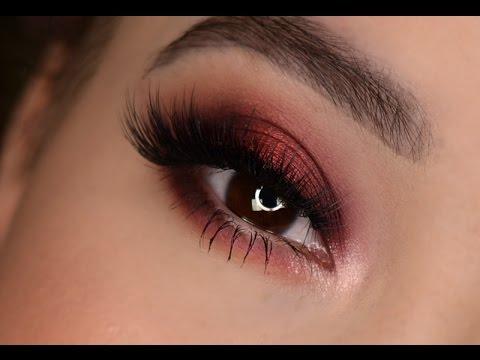 Makeup Eye Looks Burgundy Eye Look Fall Makeup Tutorial Youtube