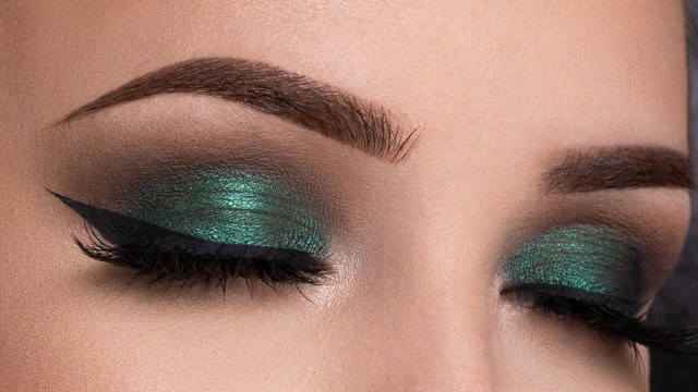 Makeup For Green Eyes Metallic Green Smokey Eyes Makeup Tutorial Youtube