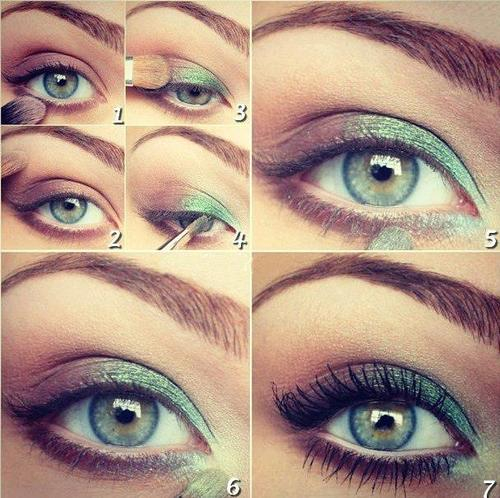 Makeup For Greenish Blue Eyes 16 Green Eye Makeup Tutorials Fashionable Green Eye Makeup Ideas