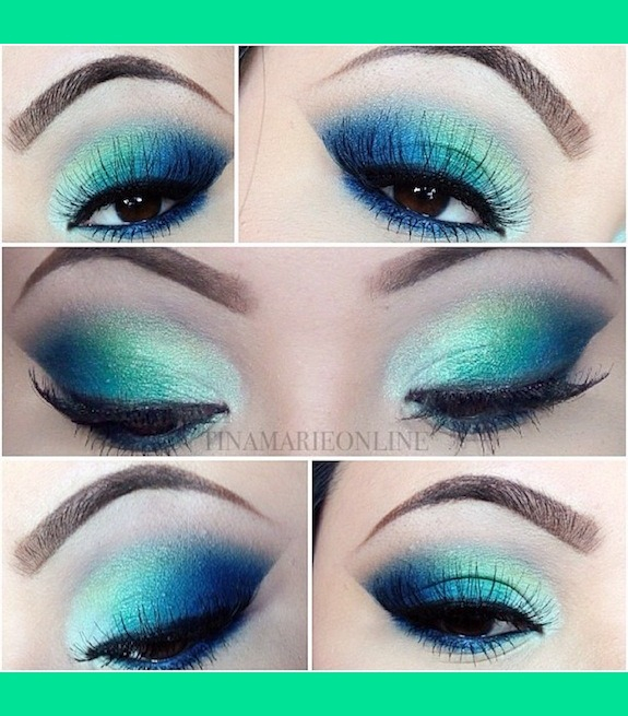 Makeup For Greenish Blue Eyes Blue And Green Spring Makeup Tina Marie Cs Tinamarieonline