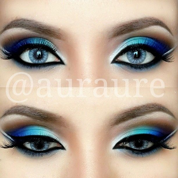 Makeup For Greenish Blue Eyes Blue Green Silver Eye Makeup Pictures Photos And Images For