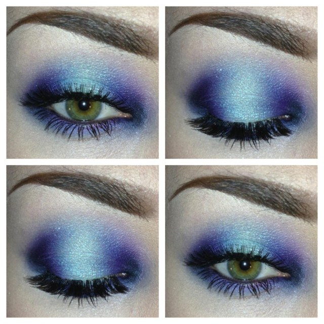 Mermaid Eye Makeup Eotd Todays Eye Makeup Went With Blue Teal Purple And A Little