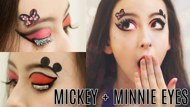 Minnie Mouse Eye Makeup Mickey Minnie Mouse Eye Makeup Tutorial Courtney Little Youtube