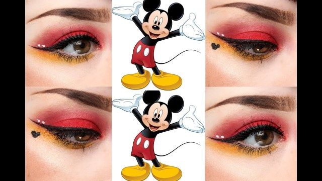Minnie Mouse Eye Makeup Mickey Mouse Inspired Eye Makeup Youtube