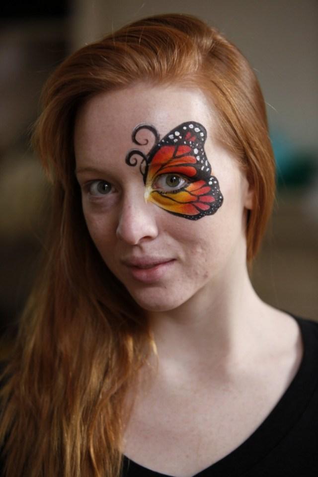 Monarch Butterfly Eye Makeup Butterfly Eye Halloween Makeup Video Tutorial Halloweenmakeup