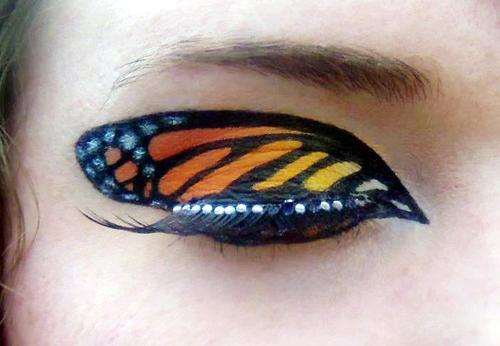 Monarch Butterfly Eye Makeup Image About Makeup In Lt3 Hannah On We Heart It