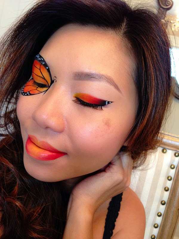 Monarch Butterfly Eye Makeup Style Cat Monarch Butterfly Inspired Makeup