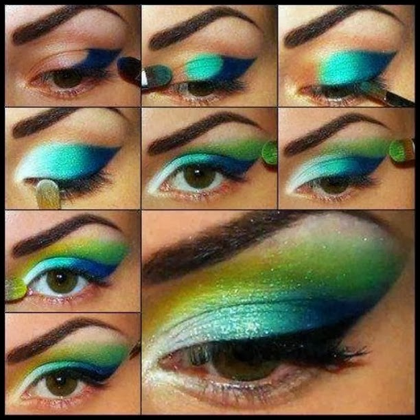Peacock Inspired Eye Makeup Dramatic Peacock Inspired Eye Makeup Ideas