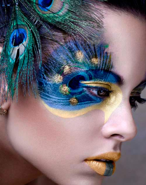 Peacock Inspired Eye Makeup Lovely Peacock Inspired Makeup Ideas Hairstyles Nail Art Beauty