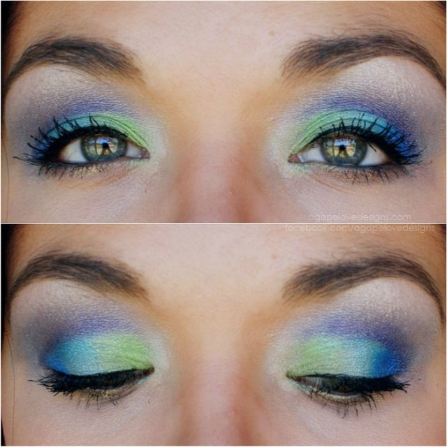 Peacock Inspired Eye Makeup Peacock Inspired Dramatic Eye Makeup Ideas