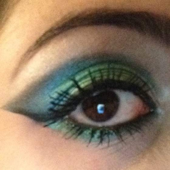Peacock Inspired Eye Makeup Peacock Inspired Eye Makeup Tutorial Weblogit