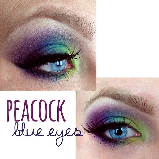 Peacock Inspired Eye Makeup Peacock Smokey Eye Makeup For Blue Eyes Tease And Makeup