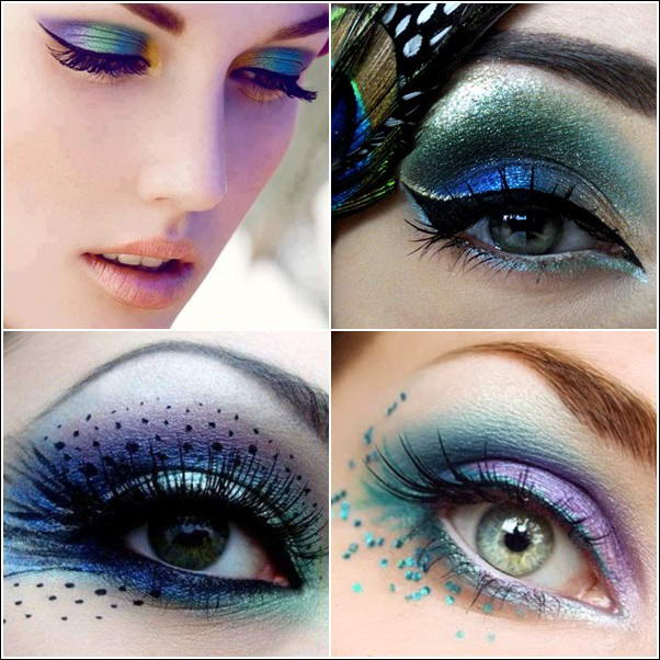 Peacock Inspired Eye Makeup Who Will Try Mesmerizing Peacock Inspired Eye Makeup