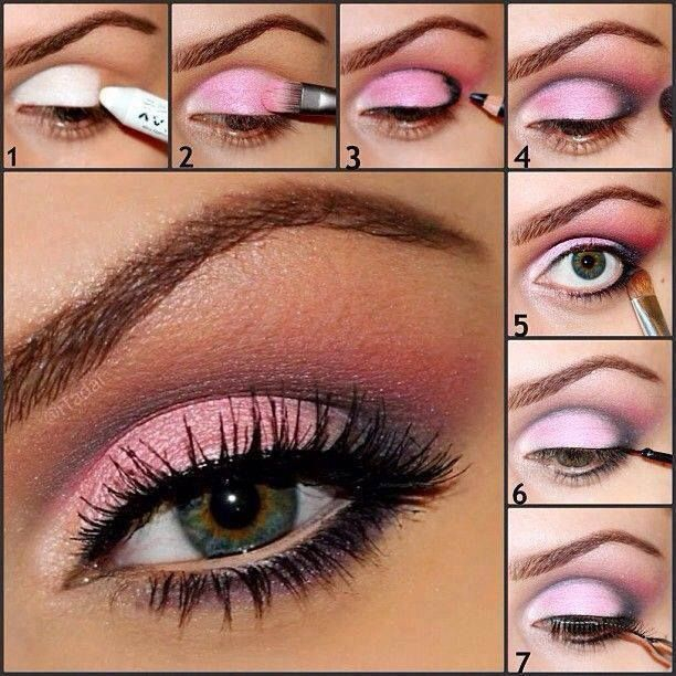 Pink Makeup For Brown Eyes Best Ideas For Makeup Tutorials Pink Eye Makeup Tutorial Makeup