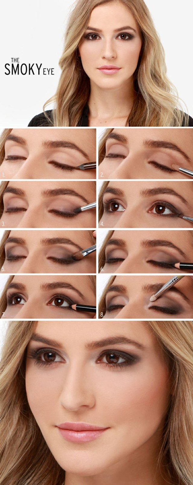 Pretty Light Eye Makeup 11perfect Smoky Eye Makeup Tutorials For Different Occasions