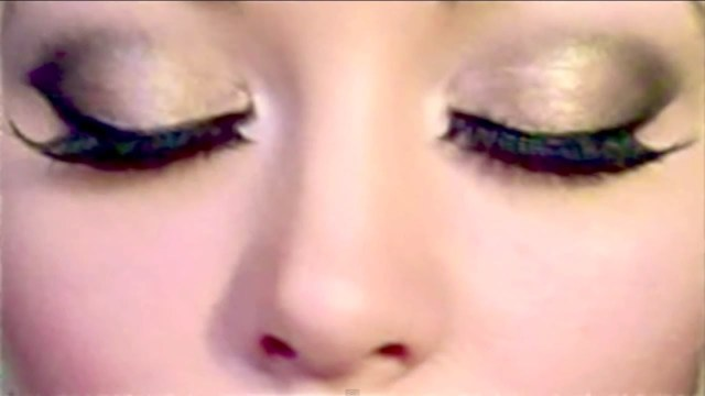 Pretty Light Eye Makeup Glam Gold Smokey Eyes Urban Decay Naked Palette 2 Minute Makeup Tutorial