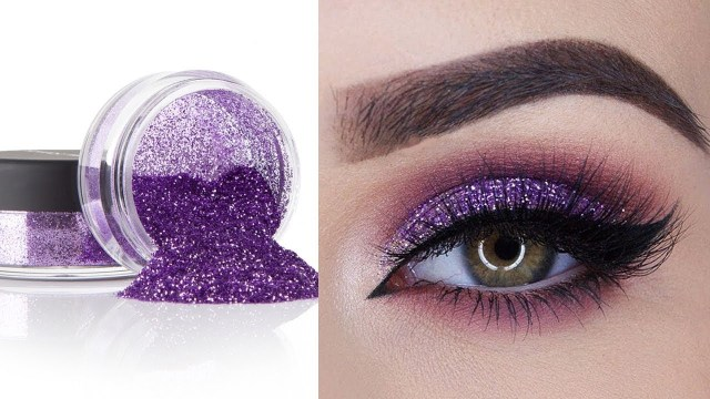 Shiny Eye Makeup Glitter Eyeshadow For Party Perfect Eye Makeup Tutorial For