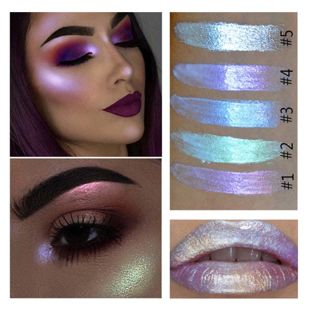 Shiny Eye Makeup Glitter Highlight Cream Makeup Face Eye Shiny Eyeshadow