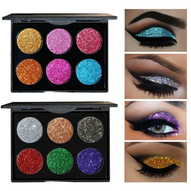 Shiny Eye Makeup Handaiyan Brand Diamond Golden Color Powder Glitter Eye Shadow