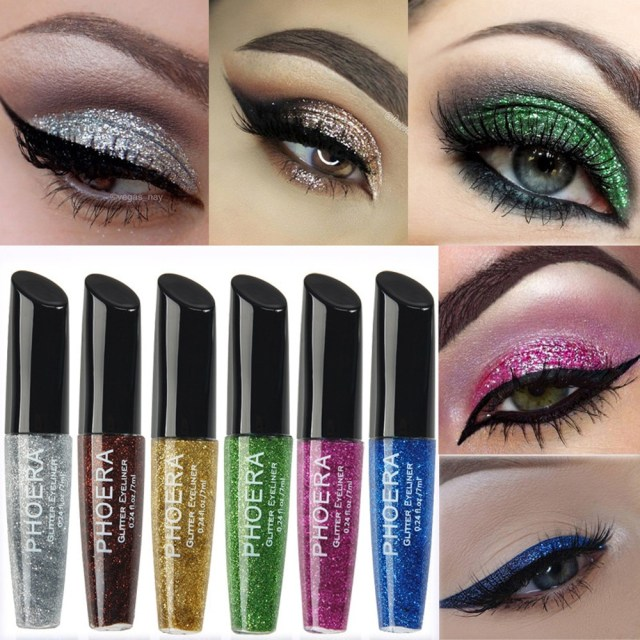 Shiny Eye Makeup Phoera Eye Shadow Makeup Palette 10 Color Makeup Metallic Shiny Eyes