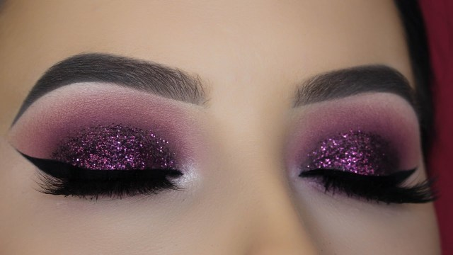 Shiny Eye Makeup Purple Mauve Glitter Eye Makeup Tutorial Youtube