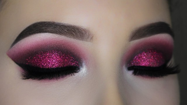 Shiny Eye Makeup Smokey Red Burgundy Glitter Eye Makeup Tutorial Youtube