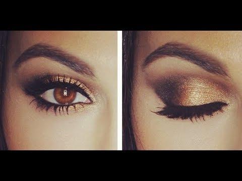 Smokey Eye Makeup Brown Gold Smokey Eye Tutorial Eye Makeup Tutorial Teni Panosian Youtube