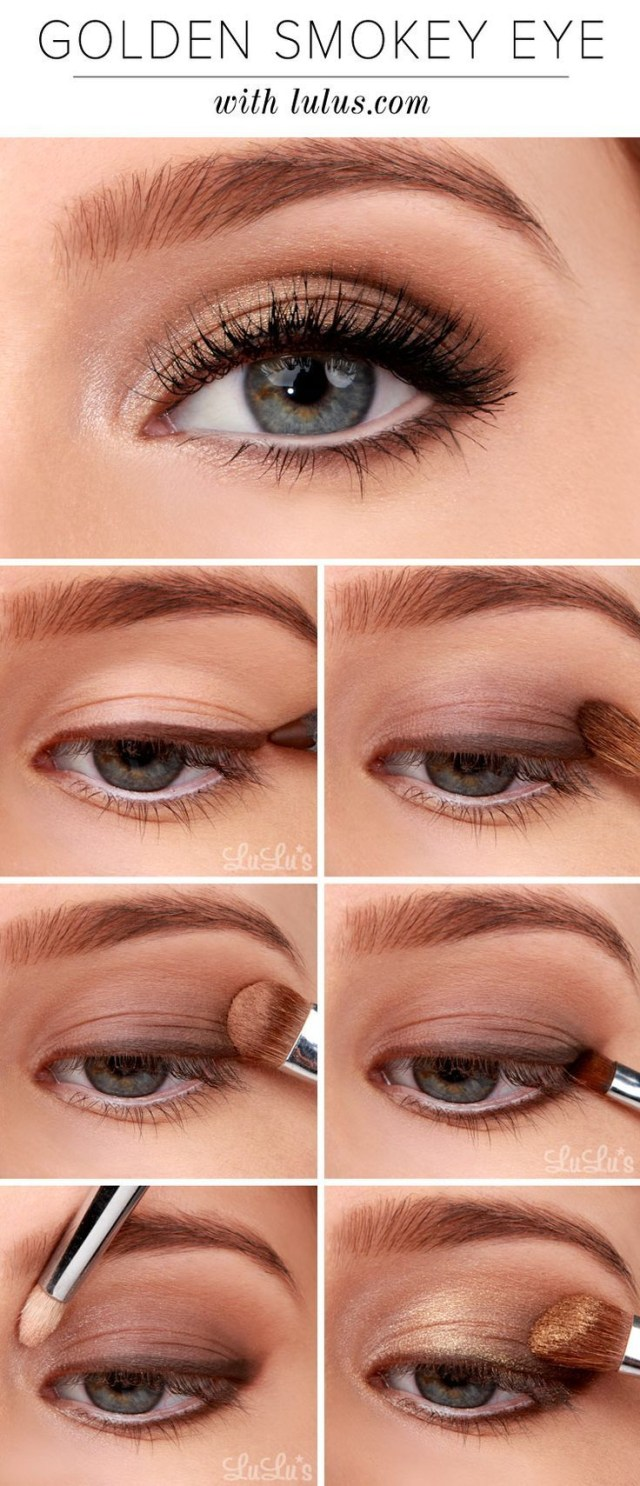Smokey Eye Makeup Pictures Golden Smokey Eye Makeup Tutorial Pictures Photos And Images For