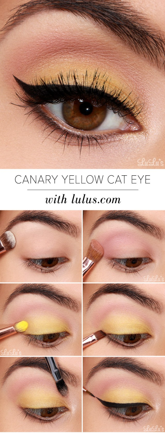 Summer Eye Makeup Lulus How To Canary Yellow Eye Makeup Tutorial Lulus Fashion Blog