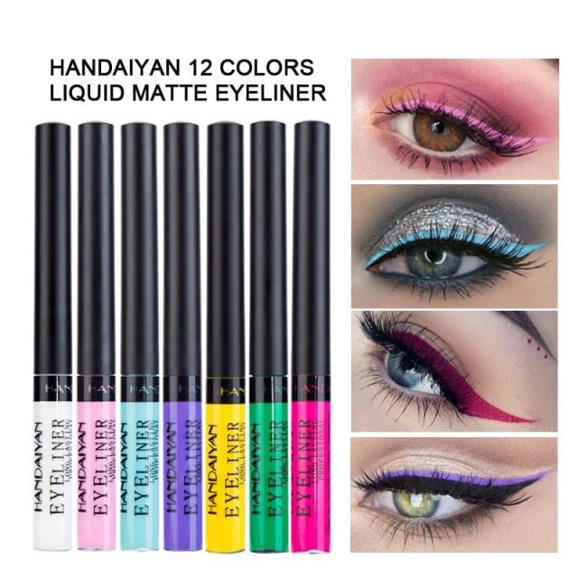 White And Pink Eye Makeup 12pcsset Handaiyan Matte Eyeliner Eyes