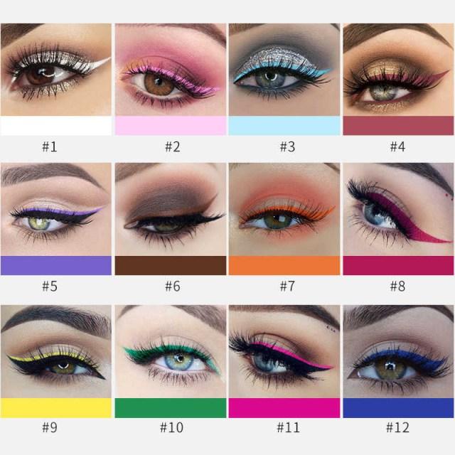 White And Pink Eye Makeup Detail Feedback Questions About 12pcsset Handaiyan Matte Eyeliner