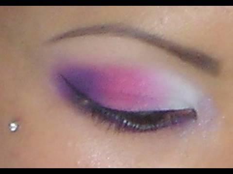 White And Pink Eye Makeup Matte White Pink Purple Eyeshadow Tutorial Youtube