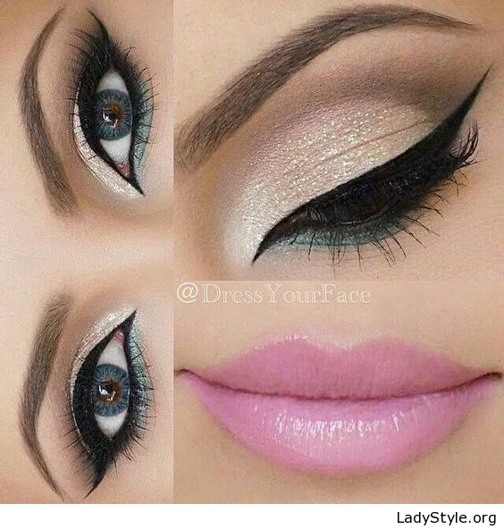 White And Pink Eye Makeup White Eye Makeup And Pink Lips Ladystyle