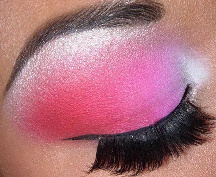 White And Pink Eye Makeup White Hot Pink And Red Pink Bold Eyeshadow Combo Tutorial Youtube