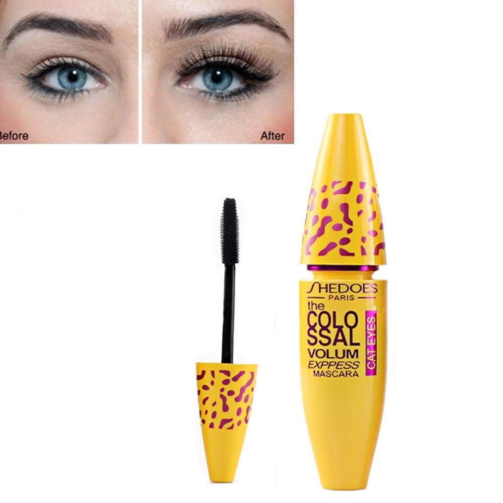Yellow And Black Eye Makeup 3d Silk Fiber Eyelash Mascara Thick Curling Waterproof Yellow Tube