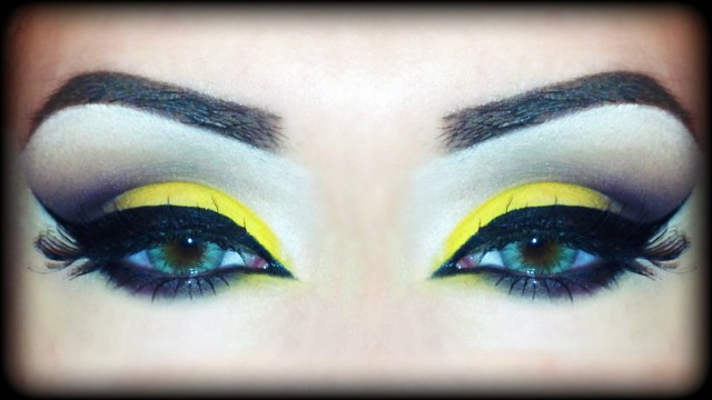 Yellow And Black Eye Makeup Yellow Brown Fall Arabic Makeup Tutorial Inspired Melissa
