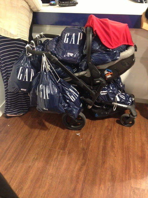 Pram full of gap bags