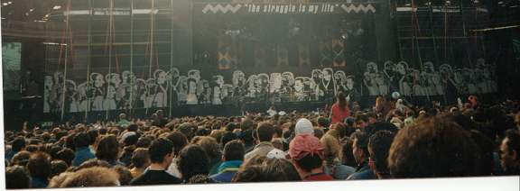 Mandela Concert at Wembley Stadium. 16 April, 1990