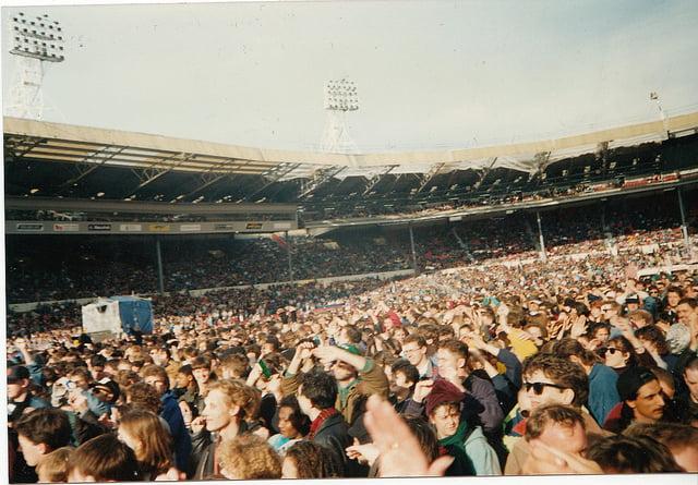 Mandela Concert at Wembley Stadium. 16 April, 1990
